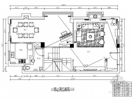 精品豪华欧式风格三层别墅装修室内设计施工图(含效果)