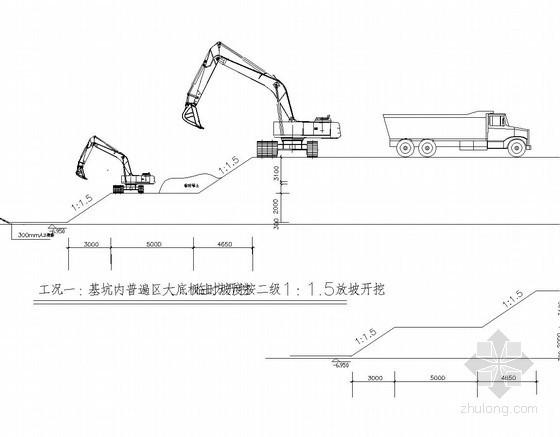 [上海]地下室基坑开挖支护施工方案(含CAD方案图)