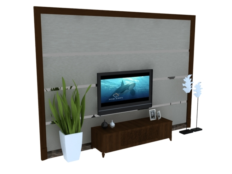 电视墙3D模型下载