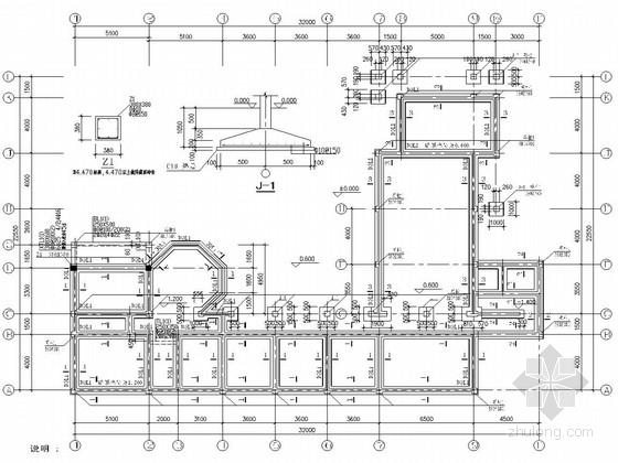 三层砖木结构临时房屋结构施工图(木屋架)