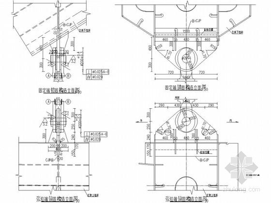 特大型下承式钢结构系杆拱桥拱肋施工图(115张 拱肋与吊杆)