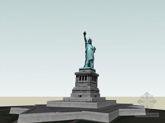 自由女神像SketchUp模型下载