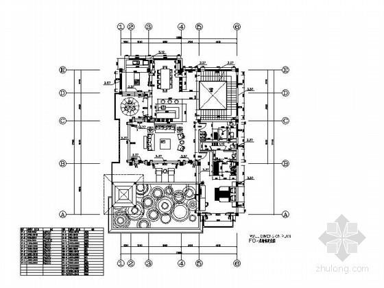 [海南]生态休闲度假酒店别墅室内装修CAD施工图(含效果图)