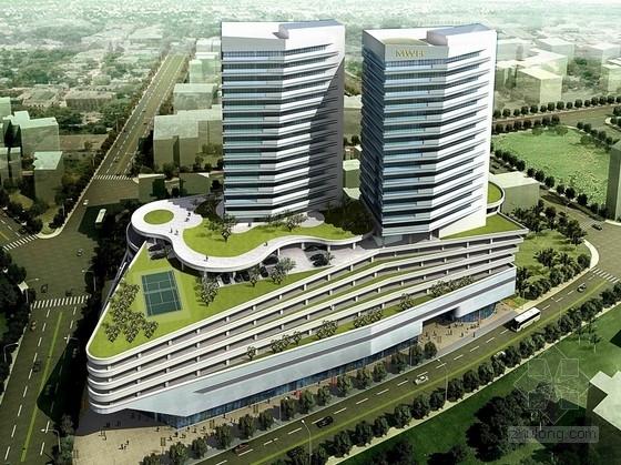 [牙买加]现代风格行政办公塔楼及商业建筑设计方案文本(双语文本)
