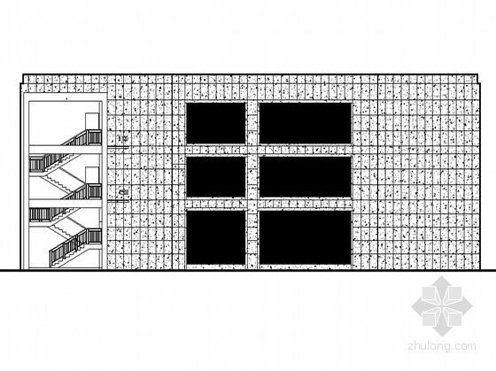 合肥某公寓商业工程6号楼裙楼外立面幕墙装饰工程图(含设计说明)