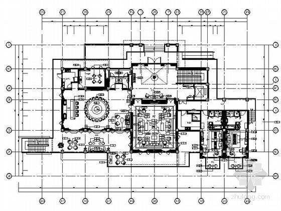 [云南]休闲特色度假村总统别墅室内施工图(含效果图片)