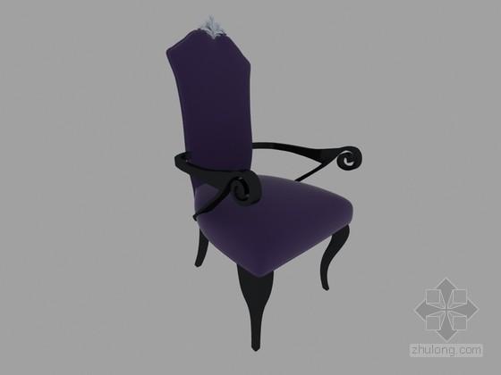 欧式扶手椅3D模型下载