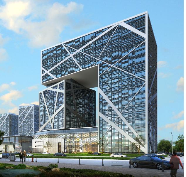 江苏盐城金融城商业项目规划建筑设计方案文本(图纸齐全)_3