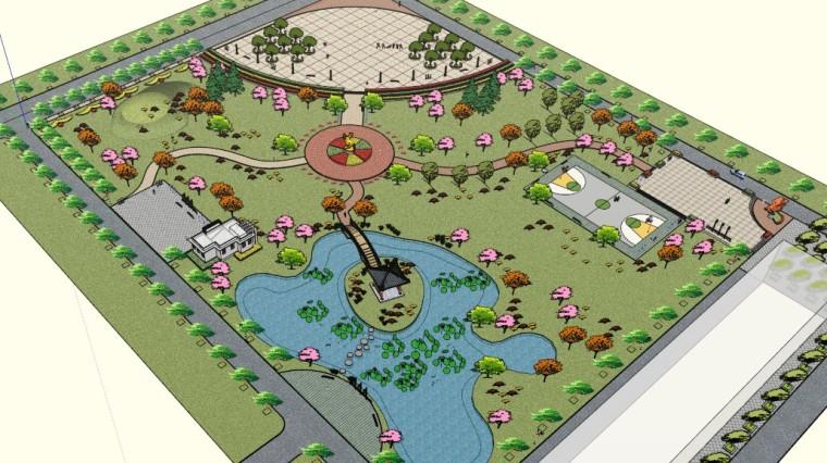 乐寿公园景观设计(SU模型)