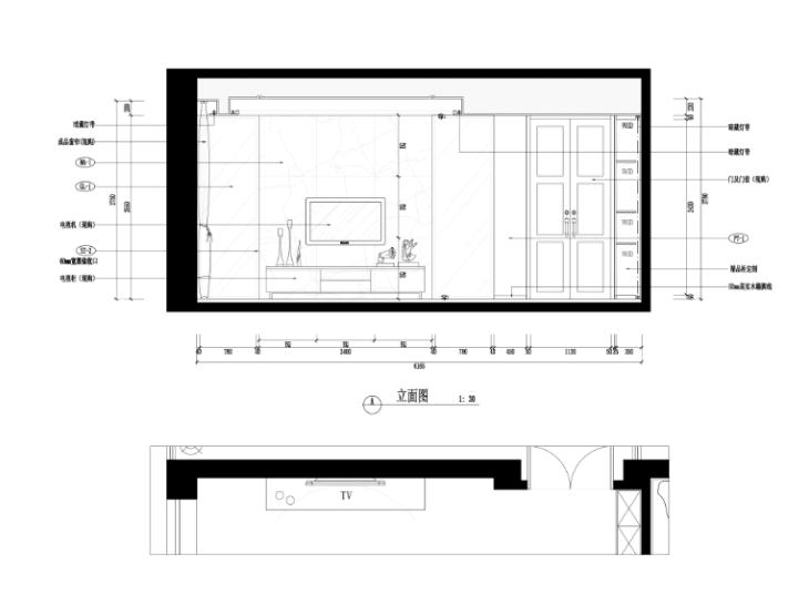 某中式建欧别墅室内装修设计施工图及效果图_2
