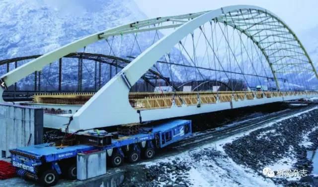 并驾齐驱:挪威德里瓦河大桥