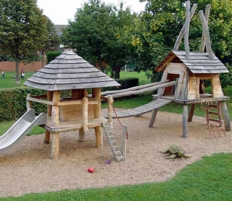 德国设计师怎么造园的?——儿童活动场地场所、器具、防坠落和地