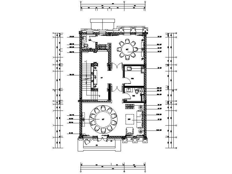 [济南]新中式东方风情别墅会所样板房室内设计施工图(含实景图)