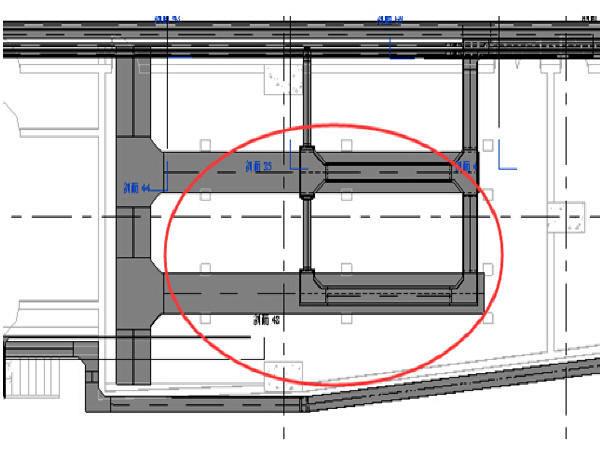 地铁车站一期工程三维设计模型图18个
