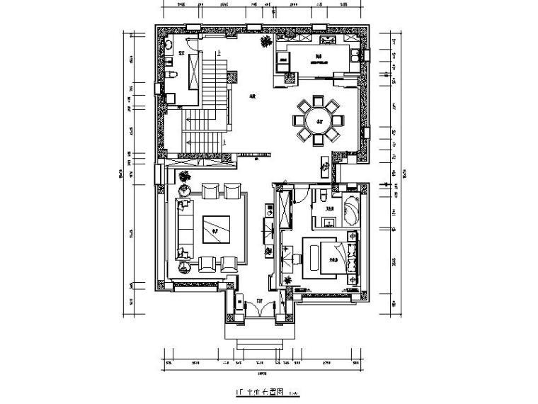 [山西]中式风格的别墅设计施工图(含效果图)