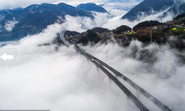 全球最长悬索桥:泗渡河特大高桥美景