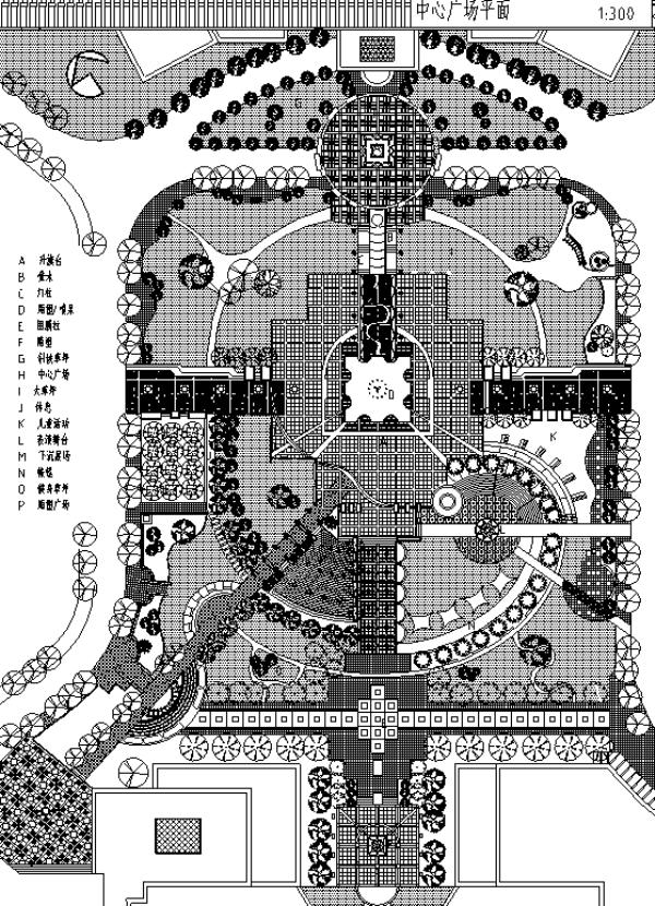 广场景观绿化设计CAD平面图57套