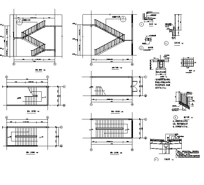 三层拱形屋面全民健身中心建筑详图