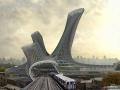 欣赏纽约的交通枢纽?这样的建筑效果图可喜欢?