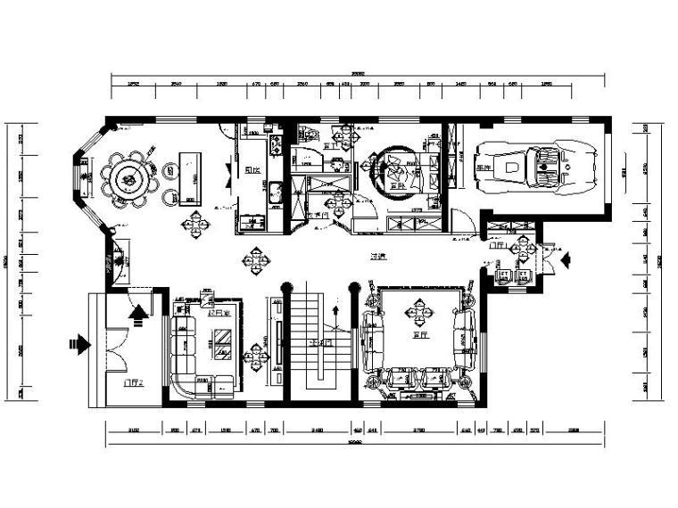 现代简约风格别墅设计施工图