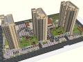 商业广场景观su模型及屋顶花园景观su模型