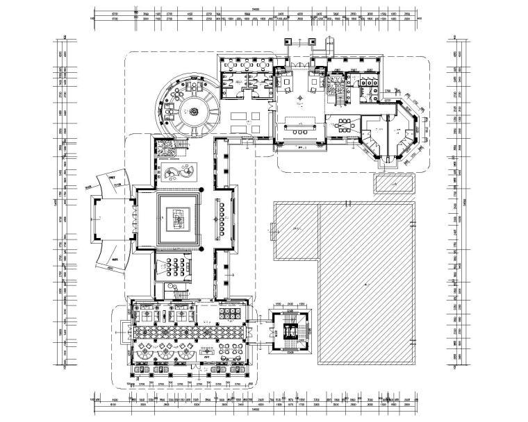 南通华强城售楼处室内装修施工图
