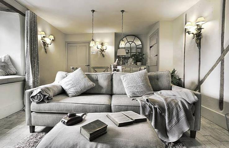 北欧简约复式二居室古朴舒适自然居实景图