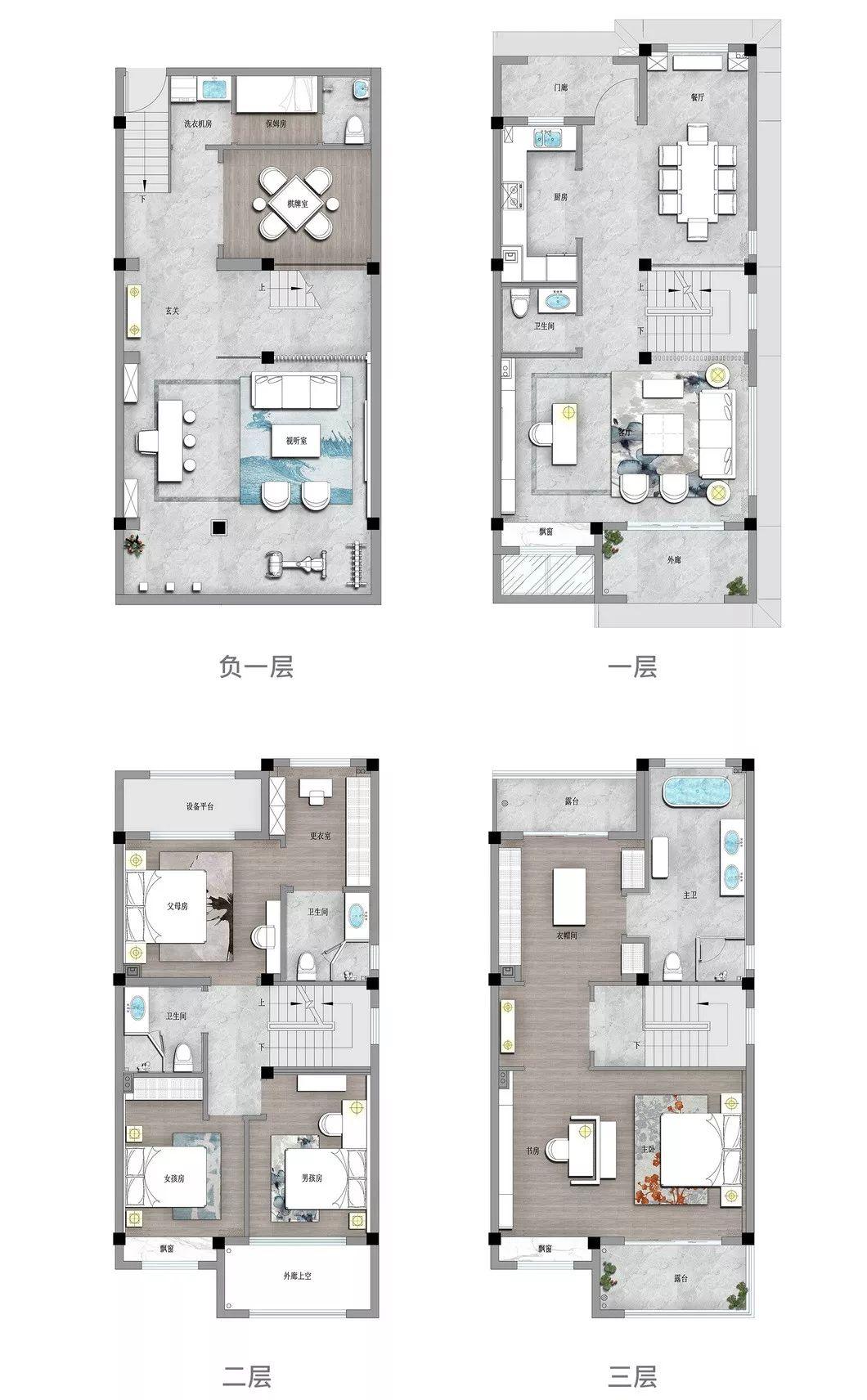 273㎡新中式别墅,竟然可以这么美!_34