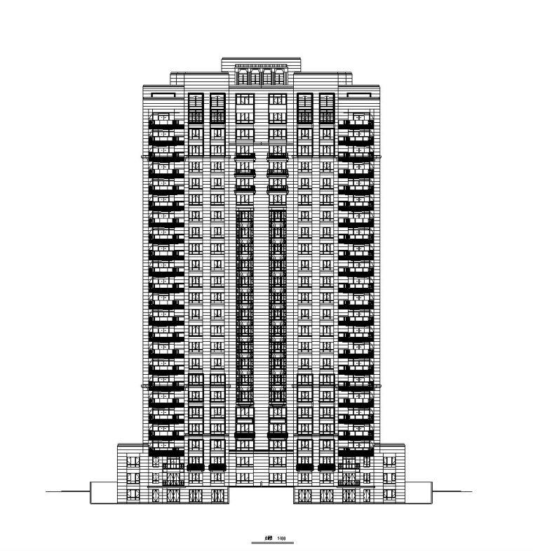 欧陆风格多层住宅区资料下载-[上海]普陀区长风生态商务居住区建筑施工图设计(欧陆风格)