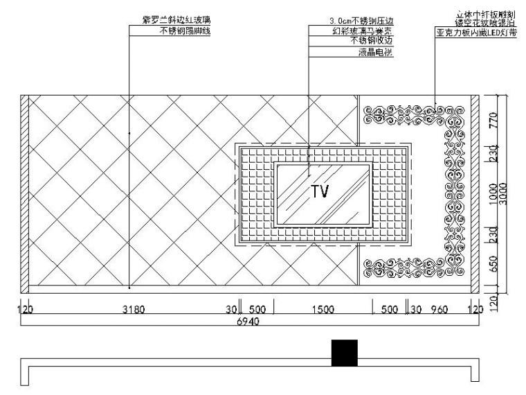 [北京]时尚个性新锐量版式KTV室内设计施工图_6