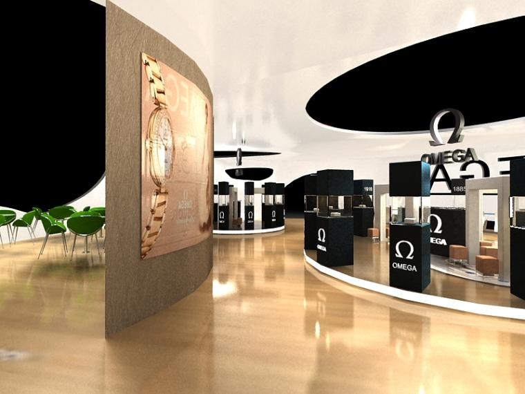 欧米茄展厅设计_13