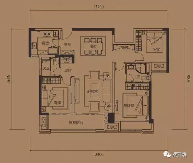 万科罕见的270㎡5房6卫双拼户型,庭院高达228㎡_51
