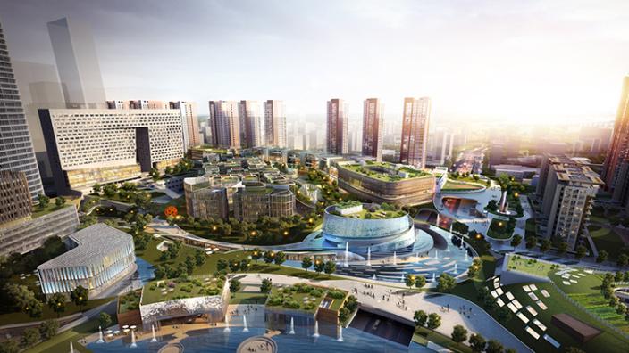 深圳地铁前海时代企业汇馆周围景观-8