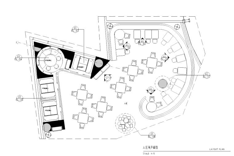 [广东]深圳鼎悦坊火锅餐厅室内施工图及效果图