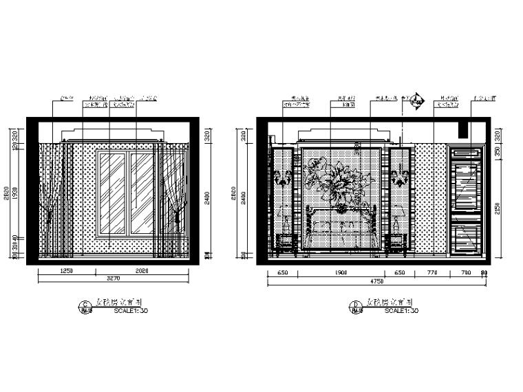 [广东]欧陆风格别墅设计CAD施工图(含效果图)-【广东】欧陆风格别墅设计CAD施工图(含效果图)立面图