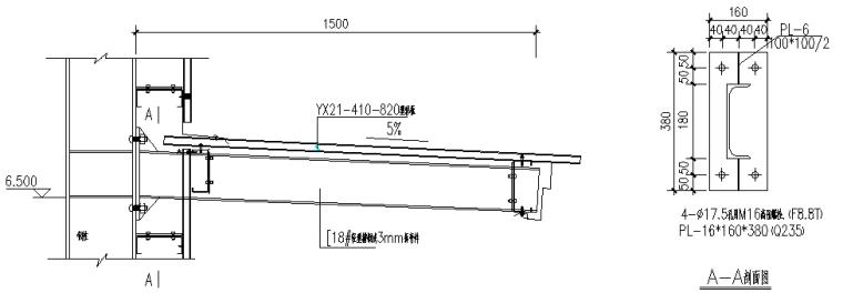 63×180门式刚架厂房施工图(CAD,18张)_8