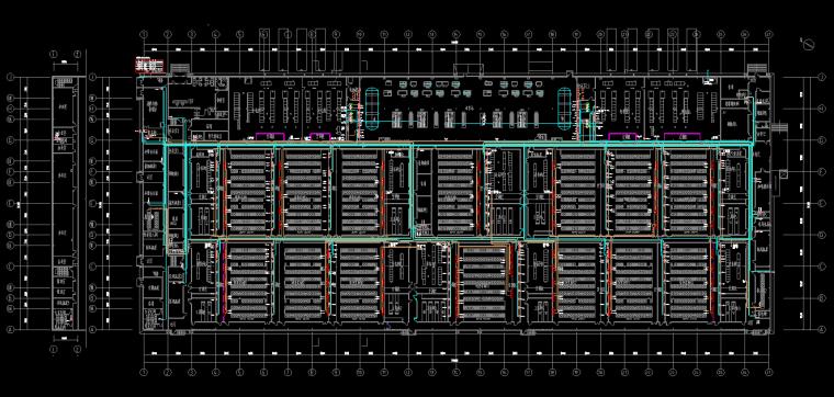北京大型厂房电气装修图纸-干线布线图