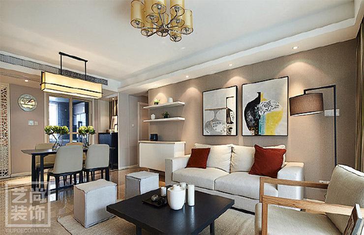 郑州和昌悦澜120.35平方三室两厅现代简约样板间装修案例