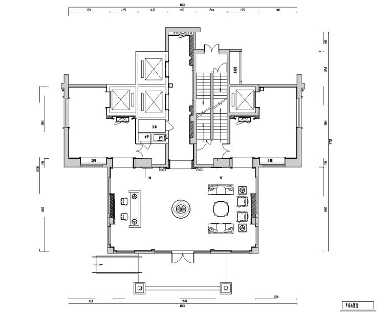 [福建]名城欧式风格办公楼电梯厅施工图