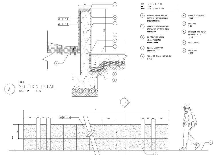 [上海]某耀江国际居住区景观设计全套施工图(包含+120个CAD)-节点详图1