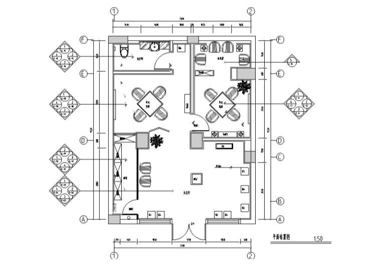 精品中式风格红酒铺空间设计施工图(附效果图)