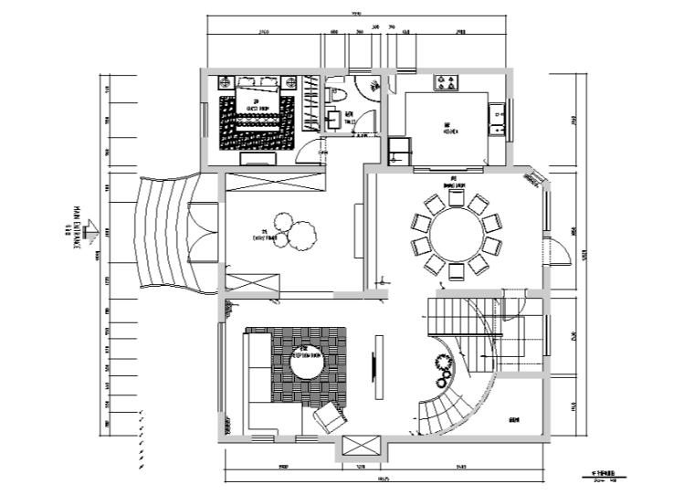 现代简约风复式别墅设计施工图(附效果图+软装配置)