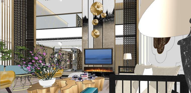 豪华loft室内设计客餐厅模型设计(2018年)-X 18