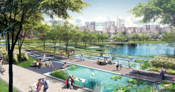 [四川]城市绿洲滨水生态中央公园景观设计方案