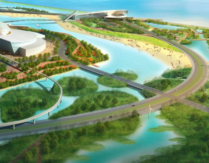 [上海]蓝色港湾旅游区概念性景观规划设计_1