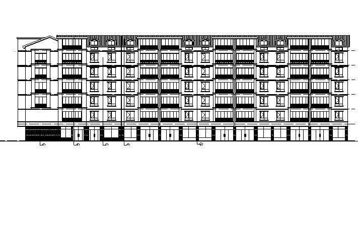 [宁夏]多层新中式风格塔式住宅建筑施工图(含全专业及地下室)