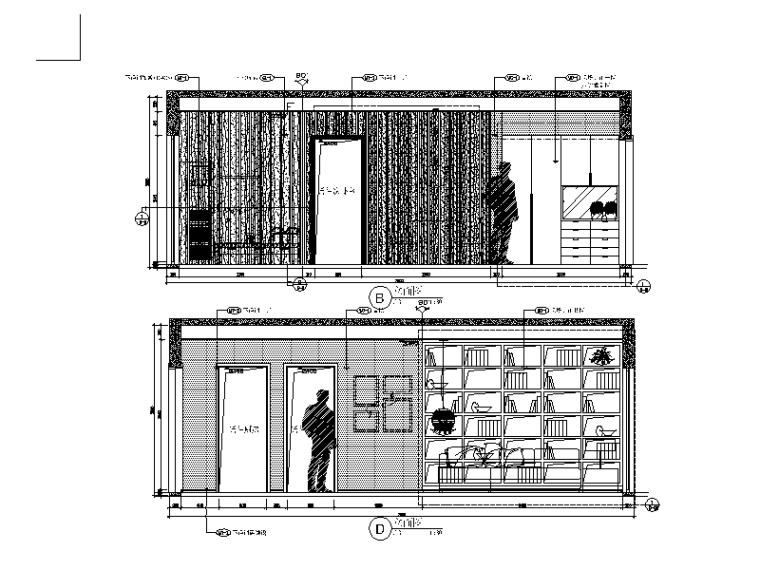 现代风格小户型设计CAD施工图(含效果图)_3