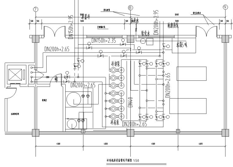 江西某地源热泵空调系统施工图(含地源热泵系统及大样等)
