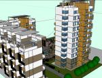 精致特色小区建筑设计SU模型