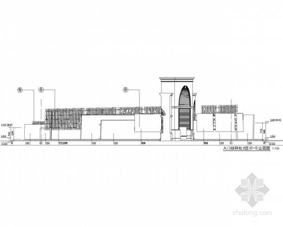 [合集]24套大门建筑施工图(学校、接待中心、公司大门、欧式)_29